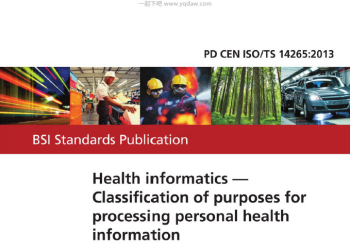 BS PD CEN ISO TS 14265-2013 British Standard英国标准- 一起下吧